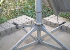 Base for a small VSAT satellite internet antenna