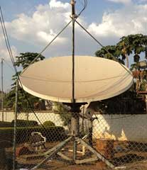 VSAT and broadband satellite internet dish terminal installers in Africa