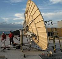 Large VSAT antenna installation