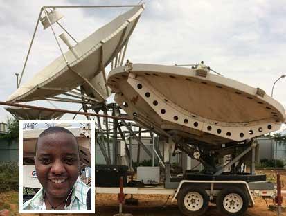 Satellite dish in Rwanda
