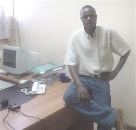 Ben in his Kenya office