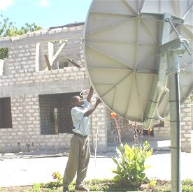 Installing another VSAT dish
