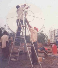 VSAT site installation in Nigeria
