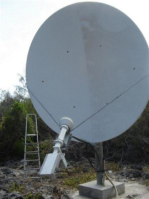 C-band VSAT satellite dish in Africa