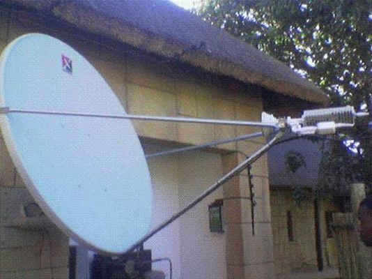 Channelmaster Ku band satellite dish in Africa