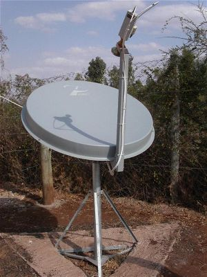 Patriot Ku band satellite dish in Africa