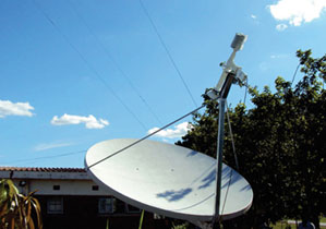 C band VSAT antenna installation in Malawi
