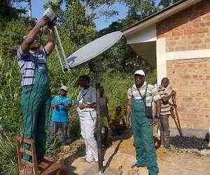 VSAT installation in Democratic Republic of Congo