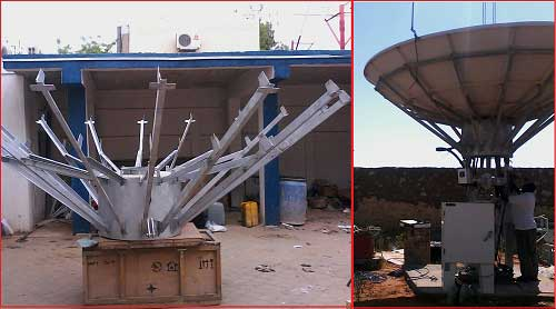 Antenna backing structure and complete dish