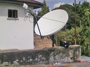 1.8m C-Band VSAT dish (circular polarisation)