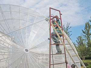 7.2m diameter C band receive only dish