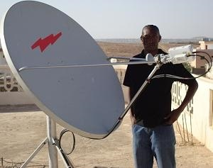 Ku band VSAT installation