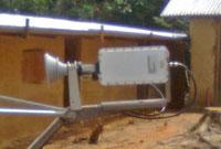 Ku band feed and transmit BUC assembly
