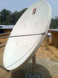 Satellite dish installation