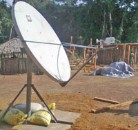 Satellite Internet access dish