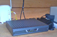 Indoor modem and wireless router