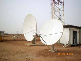 Two VSAT dishes