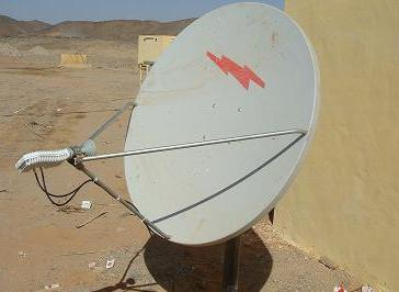 Andrew antenna installation in Sudan