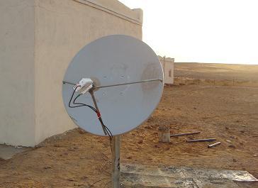 Two way VSAT satellite dish in Sudan