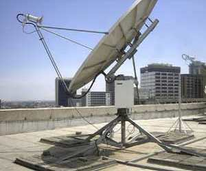 VSAT satellite dish installation for Standard Chartered Bank in Ethiopia