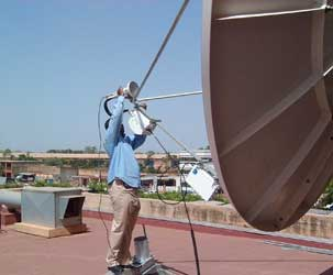 VSAT installation in Burkina Faso
