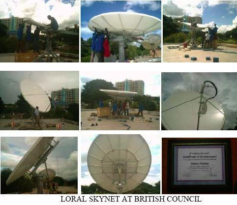 VSAT install for British Council, Loral Skynet