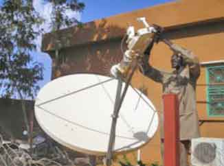 C band VSAT installation in Nigeria