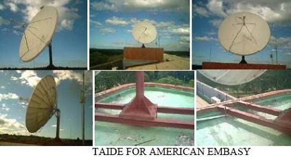 VSAT installation for American Embassy