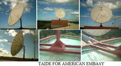 VSAT installation for American Embassy