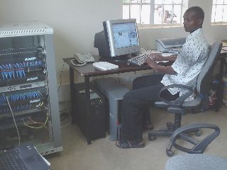 Internet network server centre in Kenya, Africa