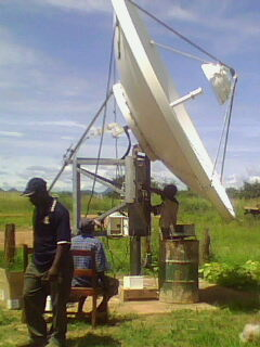 Satellite dish for Zambia Revenue Authority