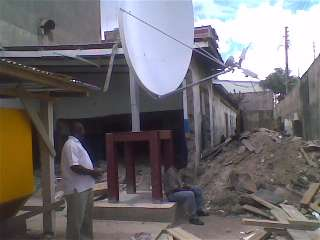 VSAT dish for access bank