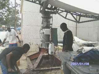 Satellite dish installetion at Huawei, Zambia