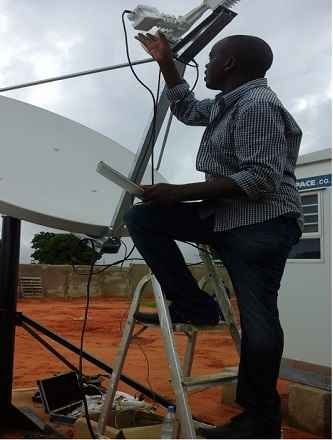 1.8m antenna polarisation alignment in Mozambique, Africa