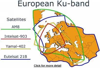 Satellite broadband: Service providers in Europe