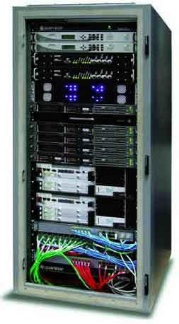 Hughes HX VSAT hub rack