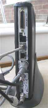 Rear view of HX 50 modem