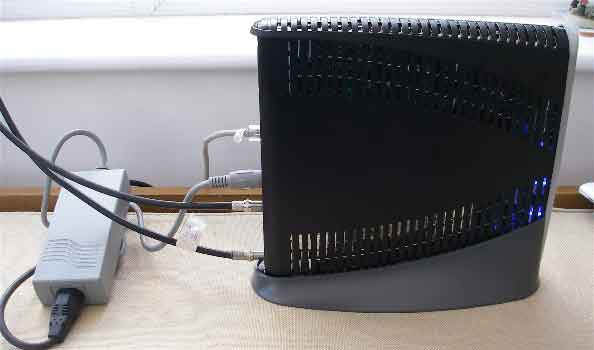 Side view of HX50 modem