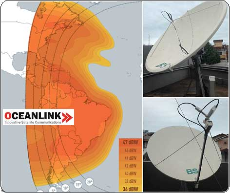 Ku band satellite internet connections for Brasil