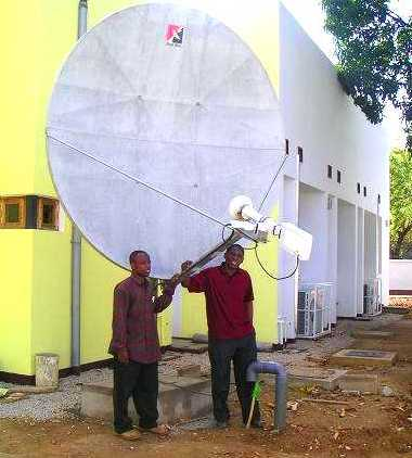 Channelmaster 2.4m C-band dish antenna