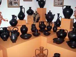 Famous black pottery