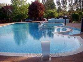 Pool at Hotel Szivek at Berekfurdo