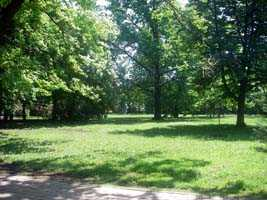 Park near spa centre in Hajduszoboszlo