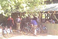 Cycling lunch at camping ground near TiszaFüred