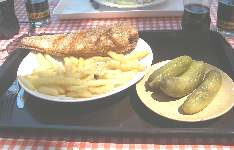 Hungarian fast food: Hake fish