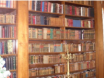 Historic book collection in the Helikon library