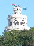 Lookout observation tower in Buda hills