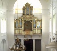 Old organ in church at Kunhegyes