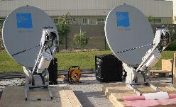 Transportable iDirect VSAT terminal