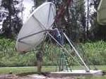 VSAT dish installation